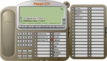 Platan CTI - informacje odzwoniącym, przyciski skróconego wybierania, historia połączeń